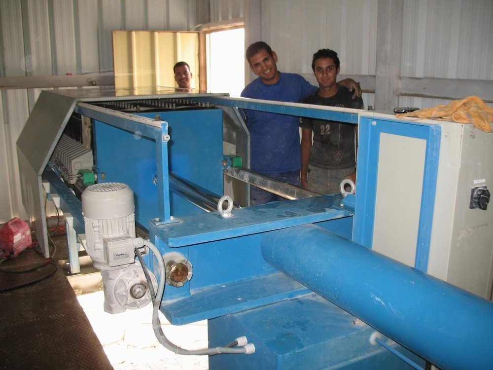 The filter press for dewatering<br />Egypt